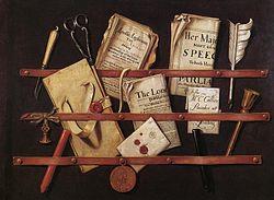 Edwaert Collier: Trompe l'œil aux instruments d'écriture