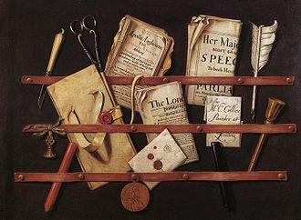 Evert Collier - Edward Collier's trompe-l'œil painting