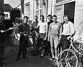 Eerste deelnemers arriveren te Helmond voor de Ronde van Nederland , de Duitse p, Bestanddeelnr 915-1317.jpg