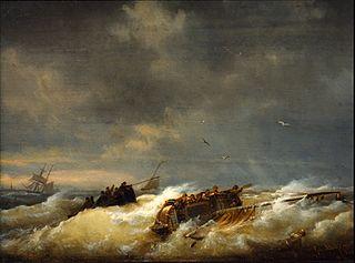 Shipwreck on the Westerschelde near Terneuzen