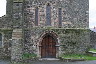 Aberconwy Abbey - Abbey church doorway
