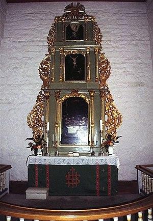Eidsvoll Church - The altarpece