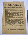 Eight Demands of the Revolutionären Aktionsausschusses, Braunschweig Red Republic, March-April 1919, paper - Braunschweigisches Landesmuseum - DSC04897.JPG
