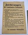 Eight Demands of the Revolutionären Aktionsausschusses, Braunschweig Red Republic, March-April 1919, paper - Braunschweigisches Landesmuseum - DSC04897.JPG