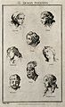 Eight physiognomies of human passions. Etching by Taylor aft Wellcome V0007666.jpg