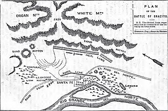 Battle of El Brazito - Image: El Brazito Doniphan map