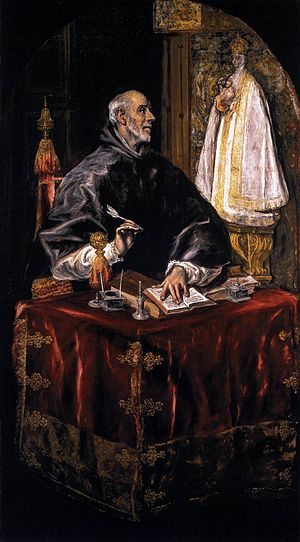 Ildefonsus - Ildephonsus as portrayed by El Greco.