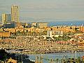 El port vell des de Miramar, Ones.jpg