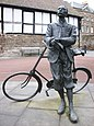 Statue von Edward Elgar in Hereford