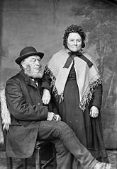 Elias Hughes and his wife, Llangefni