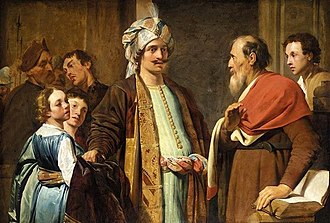 Elisha - Elisha Refusing the Gifts of Naaman, by Pieter de Grebber 1630