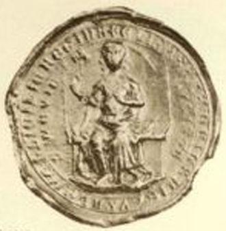 Elisabeth of Bavaria, Queen of Germany - Seal of Elisabeth of Bavaria.