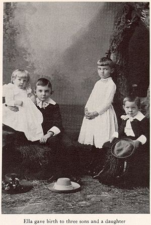 Charles W. Goodyear - Image: Ella 3 sons and 1 daughter