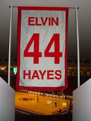 Elvin Hayes - One of five numbers retired by the University of Houston men's basketball team, Hayes's No. 44 hangs in Hofheinz Pavilion.