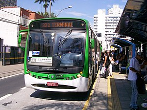 Public transport bus service - A transit bus operating in Campinas, Brazil