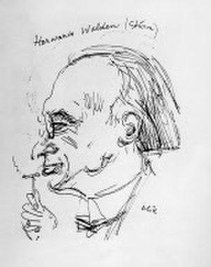 Herwarth Walden - Pen and ink sketch of Walden by Emil Orlik