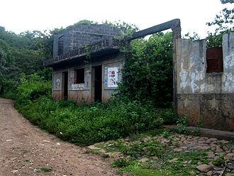 El Mozote massacre - Ruins of a burned building.