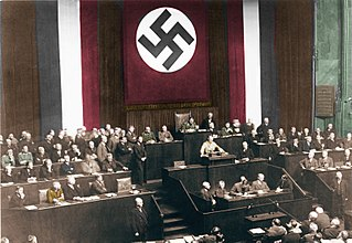 Enabling Act of 1933 Transfer of the Reichstags power to the government under Hitler