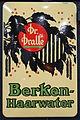 Enamel advertising sign, Dr Dralle, Berken Haarwater, Langcat Bussum.JPG