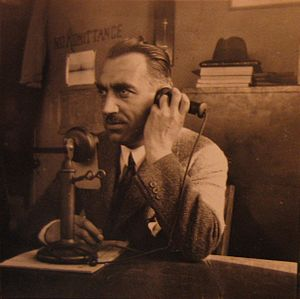 Handset - Early 20th century candlestick telephone which required only the receiver to be held to the ear.