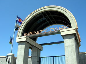 Glendale, Colorado - The entrance to Infinity Park.