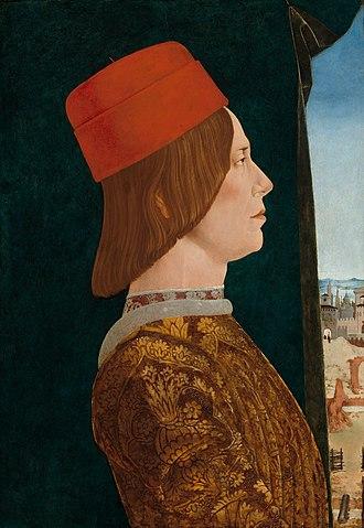 Ercole de' Roberti - Portrait of Giovanni II Bentivoglio (c. 1480). National Gallery of Art, Washington, D.C.