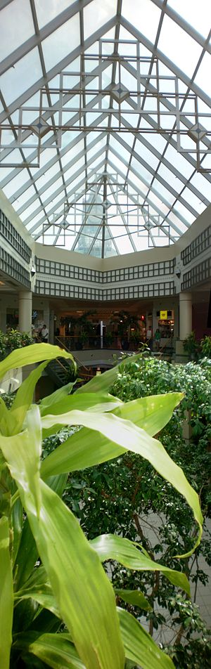 Erin Mills Town Centre - View from the second floor food court down to the centre of the mall (prior to redevelopment)