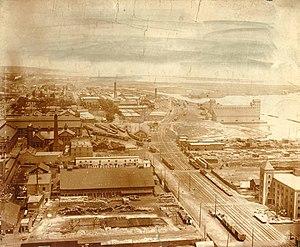 The Esplanade (Toronto) - The Esplanade looking to the west near the distillery