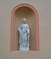Estàtua dins d'una fornícula, jardí de Montfort de València.JPG