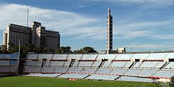 Estadio Centenario (Montevideo) Tribuna Olimpica with Torre de los Homenajes.jpg