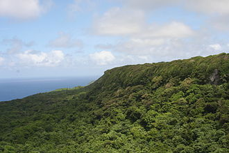 ʻEua - 'Eua National Park, looking south, on the Eastern side of 'Eua
