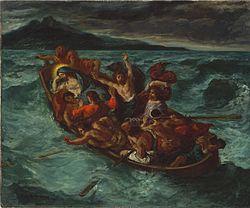 Eugène Delacroix: Christ Asleep during the Tempest