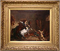 Eugène delacroix, cavalli arabi si battono in una stalla, 1860.JPG