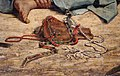 Eugène delacroix, scena di massacro a scio, famiglie greche che attendono la morte o la schiavitù, 1824, 06 faretra.jpg