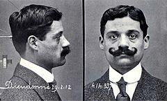 Eugène Camille Dieudonné, fotografía de la ficha policial.