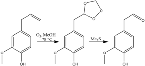 Ozonolysis - Image: Eugenol Ozonolysis
