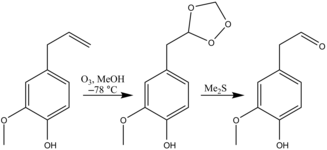 Eugenol ozonolysis[8]