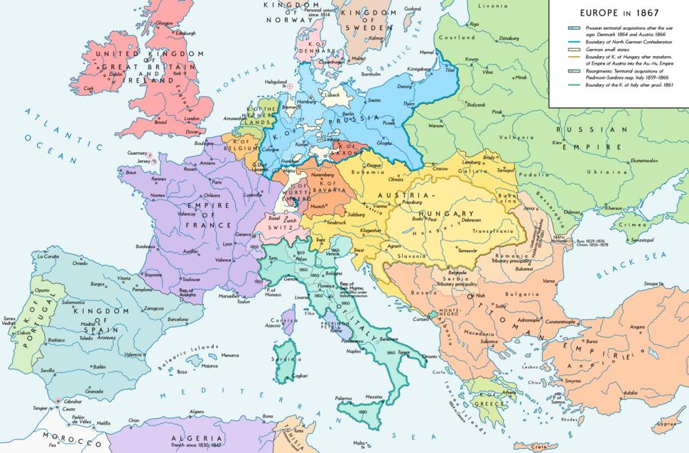 Europe 1867 map en