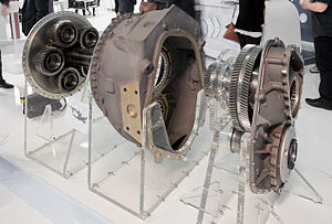 Europrop TP400 - The TP400 main propeller gearbox on display at the Paris Air Show 2013