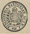 Ex líbris da Biblioteca de Sua Magsestade o Imperador do Brasil.jpg