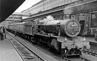 GWR 6800 Class - 6877 Llanfair Grange at Exeter St David's
