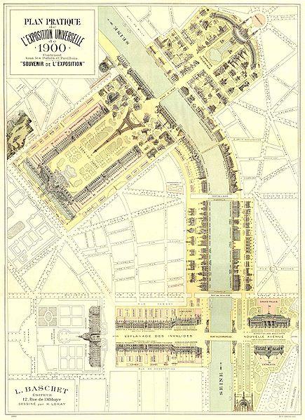 L'exposition universelle de 1900 et l'horlogerie 435px-Expo_1900_Paris_-_Plan_Pratique