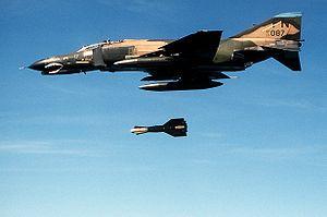 GBU-15 - A 3rd TFW F-4E dropping a GBU-15(V)1/B, in 1985.