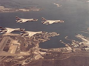 VC-10 Challengers - F-8K Crusaders of VC-10 over Guantanamo, in 1974.
