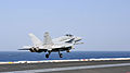 F-A-18C Hornet launches from USS George H.W. Bush 140808-N-CS564-027.jpg