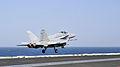 F-A-18C Hornet launches from USS George H.W. Bush 140808-N-CS564-027.jpg