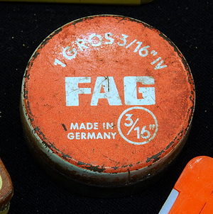 Made in Germany - FAG (Fischers Aktien-Gesellschaft) metal tin