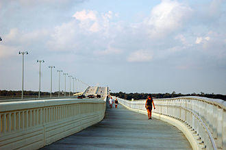 Ocean Springs, Mississippi - Biloxi Bay Bridge, post-Hurricane Katrina, opened in 2007