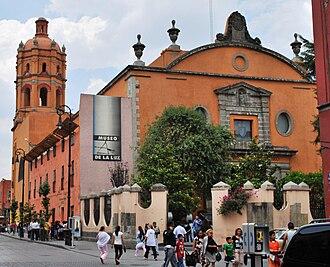 San Pedro y San Pablo College, Mexico City - Facade of church/museum, San Pedro y San Pablo College.
