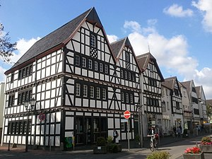Rheinbach - Timbered houses on the main street